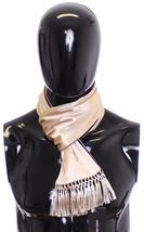 Dolce & Gabbana Scarf Men's Beige Silk 10105 - $88.10