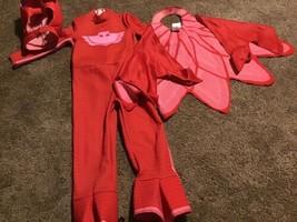 Owlette Classic Red PJ Masks Pjmasks Superhero Toddler Girls Costume S 2T - $14.84