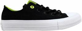 Converse Chuck Taylor II 2 OX Black/Volt  Men's 153541C Size 4 Medium - $48.88