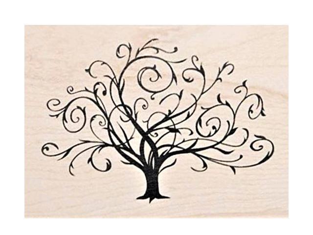 Inkadinkado-Wood Mounted Rubber Stamp-Flourishing Tree- #97163-DD
