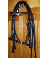 Bobby's Tack COB Brown w/Black Padding Bridle and Laced Reins - $142.00