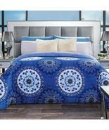 Purple Medallion Comforter Doubled sided Comforter Bedding KING JUMBO Wi... - $103.89