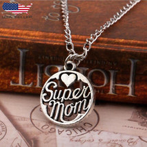 Super Mom Daughter Son Love Mama Women Necklace Pendant for Mothers Day ... - $9.79
