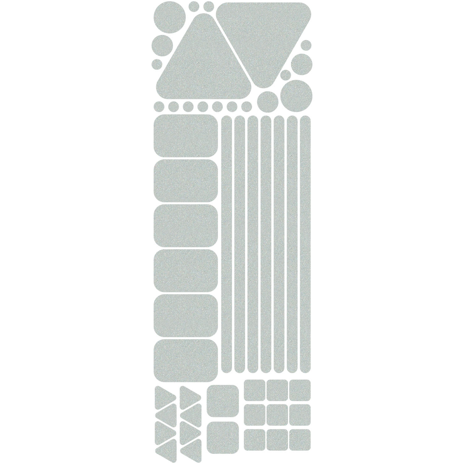 Primary image for LiteMark Reflective White Variety Pack of Decals - Assorted Shapes and Sizes