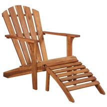 vidaXL Solid Acacia Wood Garden Adirondack Chair with Footrest Furniture - $91.99