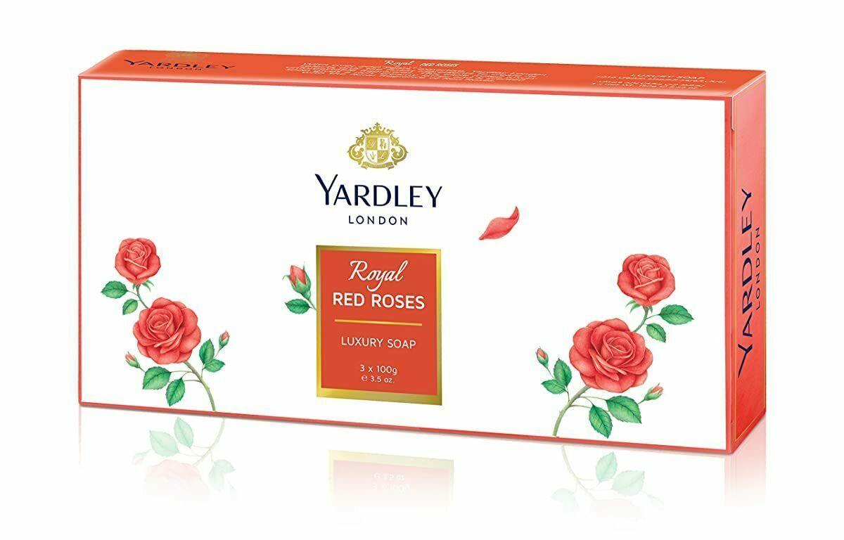 Yardley London Royal Rojo Rosas de Lujo Jabón - (100g X 3) - $18.51