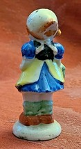"Vintage Girl with Basket Porcelain Figurine Made in Occupied Japan 3"" image 2"