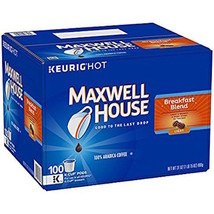 MAXWELL HOUSE BREAKFAST BLEND COFFEE, K-CUP PODS, 100 COUNT - $58.86