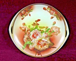 Rosenthal  Donatello  Cake Plate Tray Hand Painted Roses - $65.00