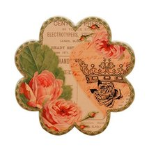Black Temptation 3 Pcs American Style Creative Ceramic Coaster/Insulation Pad - $24.20