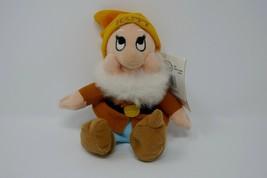 "Disney Store Snow White 7 Dwarfs Mini Bean Bag Happy 8"" Plush Stuffed To... - $9.89"
