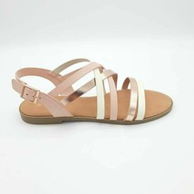 Bamboo Womens Crisscross Hippie Slingback Sandals Rose Gold Strap Buckle 6.5 New - $17.80