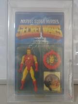 Vintage Mattel 1984 Secret Wars Iron Man AFA Graded 75 Y-EX+/NM C75 B80 F90 - $245.90