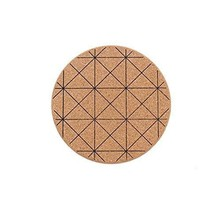 Panda Superstore Intersected Figure Cork Wood Heat Insulation Cup Mat