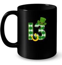 St Patricks Day 13 Years Old Birthday Irish Shamrock Gift Coffee Mug - $13.99+