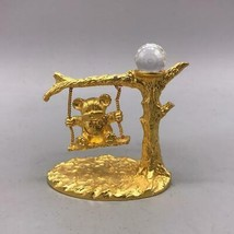 Vintage Spoontiques Bear on a Swing with Swarovski Crystal - $24.74