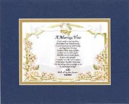 Personalized Touching and Heartfelt Poem for Loving Partners - A Marriage Vow .P - $22.72