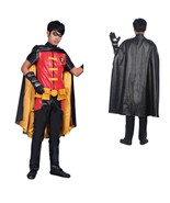 Young Justice Robin Outfit Cosplay Costume Jumpsuit Cloak - $166.75
