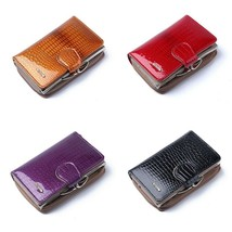 Fashion Patent Leather Women Short Wallets Coin Purse with Pockets Card ... - $34.19+