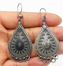 BALI 925 Silver - Vintage Traditional Style Tear Drop Dangle Earrings - ... - $43.62