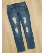 INC International Concepts Distressed Lace Patch Straight Leg Reg Fit Je... - $19.80