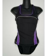 Womens Endurance Speedo One Piece Athletic Swimsuit Size 34 Purple Black - $17.99