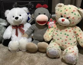 Build A Bear Christmas Lot Of 3 Plush Beary Merry Joy Confetti NWT - $12.00