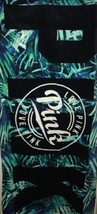 Victoria's Secret PINK Beach Towel ~GREEN FLORAL ~ Brand New - $38.39