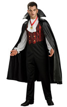 Mens Deluxe Vampire Costume Adults Halloween Count Dracula Fancy Dress O... - $32.28