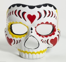 Deluxe Day Of The Dead Adult Female Mask Halloween Costume Masquerade Accessory - $14.79