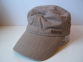 Roots 73 S/M Fitted Hat Beige Army Cap - $15.20
