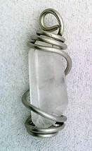 Quartz Crystal Spiral Caged Pendant 30 - $10.01
