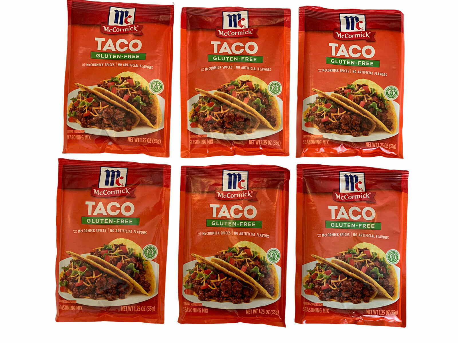 Lot of 6 Packages McCormick Taco Spices Mix Gluten Free 1.25 oz Exp 09/2022 - $19.79