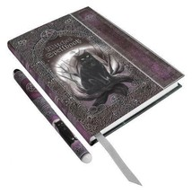 Luna Lakota Black Cat Witches Spell Book - Journal - BOS - Grimoire With... - $18.00