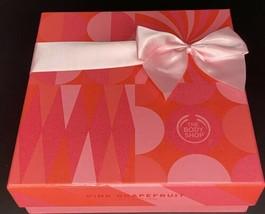 The Body Shop Pink Grapefruit Gift Set- Gel, Soap, Body Butter & Scrub, Poof - $31.99