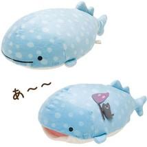 Kawaii San x Cartoon Blue Whale Plush Toys Doll Cute Sea Animal Soft Stu... - $27.80