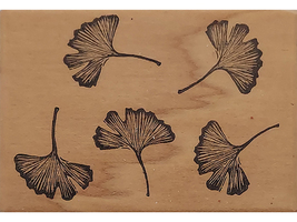 Handprints 1997 Leaves Wood Mounted Rubber Stamp #241