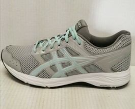 ASICS Gel-Contend 5 Athletic Running Stability Shoes Grey/Mint Women's Size 11 - $64.34
