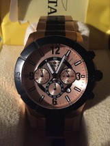 Men's Invicta 1424 Rose Gold Black Watch 27 - $100.00