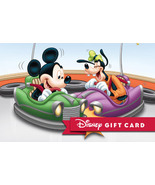 Disney Mickey & Goofy – Bumper Cars Collectible Gift Card Free Shipping - $2.99