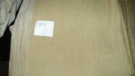 Cream Stripe Chenille Upholstery Fabric Remnant  1 Yard  F825 - $19.95