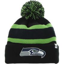 47 Brand NFL Seattle SeaHawks Beanie Breakaway Black Cuffed Knit Hat - $19.79
