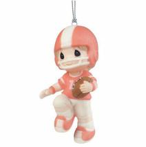 Football Player Precious Moments Ornament Boy Helmet Ball NWOB Christmas... - $25.73