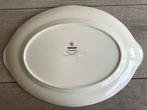 """Franciscan Desert Rose Dinnerware Platter 14"""" x 10"""" Long New Modern Stamp image 4"""