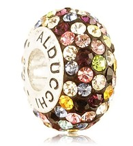 Alducchi Rainbow Multicolor Swarovski Crystal .925 Silver European Charm... - $25.95