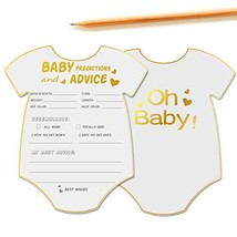 50 Advice and Prediction Cards for Baby Shower Game,Gender Neutral Boy o... - $13.24