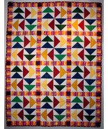 Primary Colors Big Geese Lap/Nap Quilt - $235.00