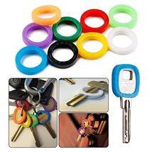 40 Pack Silicone Key Cap Tags,Plastic Key Identifier Rings,Key ID Rings,4 Pcs Ea image 2