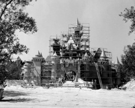 Disneyland Castle construction 24X36 inch poster, mickey mouse - $18.99
