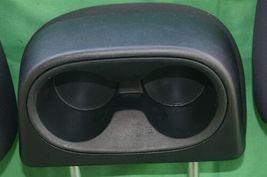 11-15 Dodge Journey 2nd Row Black Cloth 3 Headrests Headrest w/ Cupholder image 6